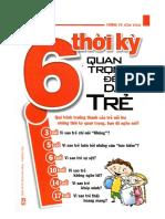 6 thời kỳ quan trọng để dạy trẻ