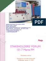 Mama FM 101.7  Presentation