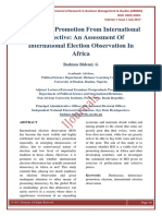 Democracy Promotion From International Perspective