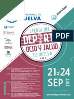 Cartel I Feria del Deporte, Ocio y Salud de Huelva