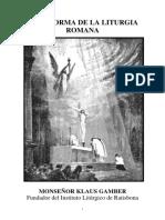 La reforma de la liturgia Monseñor Klaus Gamber.pdf