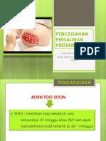 1. Pencegahan Persalinan Preterm