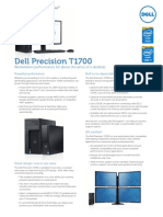 Dell Precision T1700 Spec Sheet Pre RTS