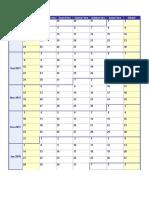 Calendario Escolar Anual Sete 2017 a Junho 2018 Semanal