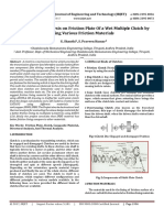 Finite Element Analysis on Friction Plate of a Wet Multiple Clutch by using Various Friction Materials