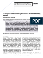 Quality of Tomato Seedlings Grown in Modified Floating System
