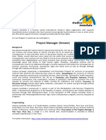 2009.09.15 - Project Manager - Medica Mondiale