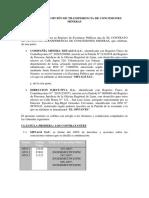 Contrato de Opción de Transferencia de Concesiones Mineras