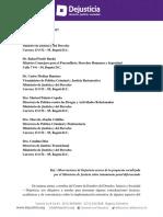 CARTA | Carta Dejusticia Proyecto Ley TPD Tercera Versión