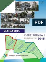 Statistik Daerah Kecamatan Bandung Wetan 2015