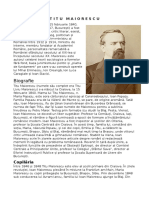 Titu Maiorescu Biografie