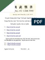 Hồng Vũ  Cấm Thư , sách cấm v/v địa lý, phong thủy