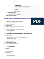 Business Plan Operations