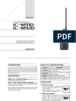 IC-M92D, IC-M91D INSTRUCTION MANUAL