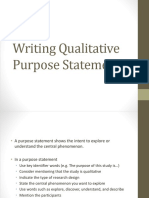 4 Qualitative Purpose Statement and Research Questions