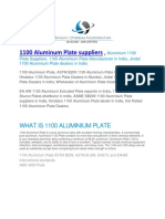 1100 Aluminum Plate Suppliers