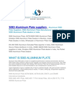 5083 Aluminum Plate Suppliers