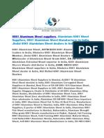 6061 Aluminum Sheet Suppliers