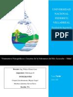 Parámetros Fisiográficos e Isoyetas de la Subcuenca del Río Acacache – Mala