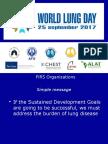 Presentation of Dr Dean E Schraufnagel, Director, FIRS in 2017 World Lung Day Webinar