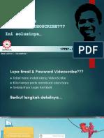 Solusi Lupa Password VideoScribe