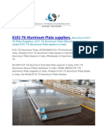 6101 T6 Aluminum Plate Suppliers