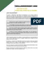 1000 MILLONES DE PERSONAS CON HAMBRE CAMPAÑA FAO INFORMACION