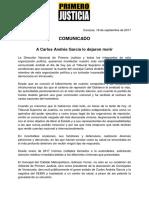 Comunicado de PJ sobre pronunciamiento del TSJ en caso Carlos García