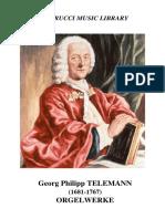 Georg Philipp Telemann Orgelwerke