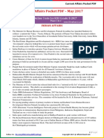 Current Affairs Pocket PDF - May 2017 by AffairsCloud