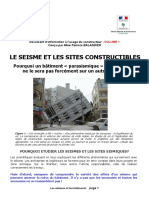 Le Seisme Et Les Sites Constructibles