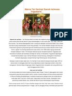 Properti Dan Makna Tari Serimpi Daerah Istimewa Yogyakarta
