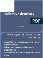 Advantages of Adhesive in Dentistry