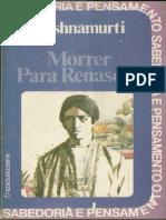 Morrer para renascer - Jiddu Krishnamurti.pdf