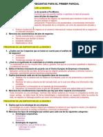 Guía Para El Primer Parcial- Plan de Negocios