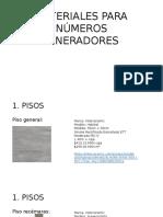 Materiales Para Números Generadores