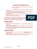 Research Plan Template (Social Research)