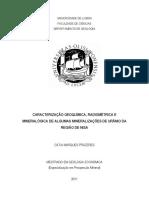 Caracterização Geoquímica, Radiométrica e Mineralógica_2011