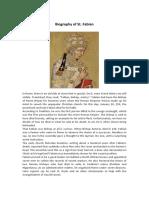 Biography of St. Fabian