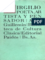 Virgilio Poeta, Artista y Pensador. a.M. Guillemin. Eduardo Prieto. Ed. Paidós