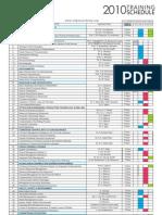 Oil & Gas Academy Training Schedule - 2010