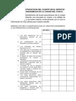 ENCUESTA DE BUSES PANORÁMICOS EN EL DISTRITO DE CUSCO