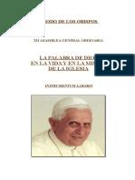 SÍNODO de LOS OBISPOS-Instrumentum Laboris