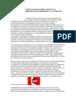 Papel de La Investigacion de Mercados en La Solucion de Problemas de Marketing y La Toma de Decisiones