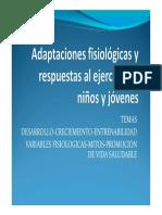 Adaptaciones Fisiológicas en Niños y Jóvenes1