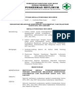 Sk Keharusan Melakukan Identifikasi Dokumentasi Dan Pelaporan Kasus Ktd Kpc Dan Knc