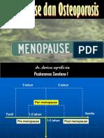 Menopause & Osteoporosis (prolanis)