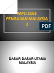Bab 12 Dasar-dasar Utama Malaysia
