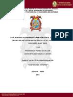 """Aplicación de Sistema Experto Para El Diagnóstico de Fallas en Networking de Área Local de La Ciudad de Chucuito Juli"""" 2015"""