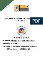 Cuadernillo de Productos M. 1 Zona 040 RAQUEL GALICIA MTZ.
